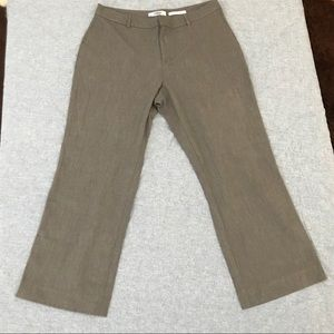 Old Navy ankle cropped taupe pants with stretch